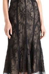 Monique Lhuillier Lace Strapless Cocktail Dress - Lyst