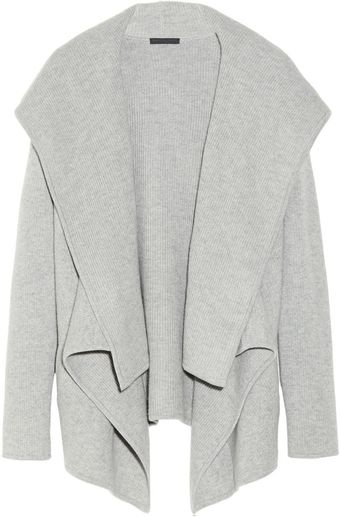 Donna Karan New York Hooded Fineknit Cashmere Cardigan - Lyst