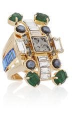 Emilio Pucci Goldplated Crystal Ring - Lyst