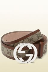Gucci Belt with Interlocking G Buckle - Lyst