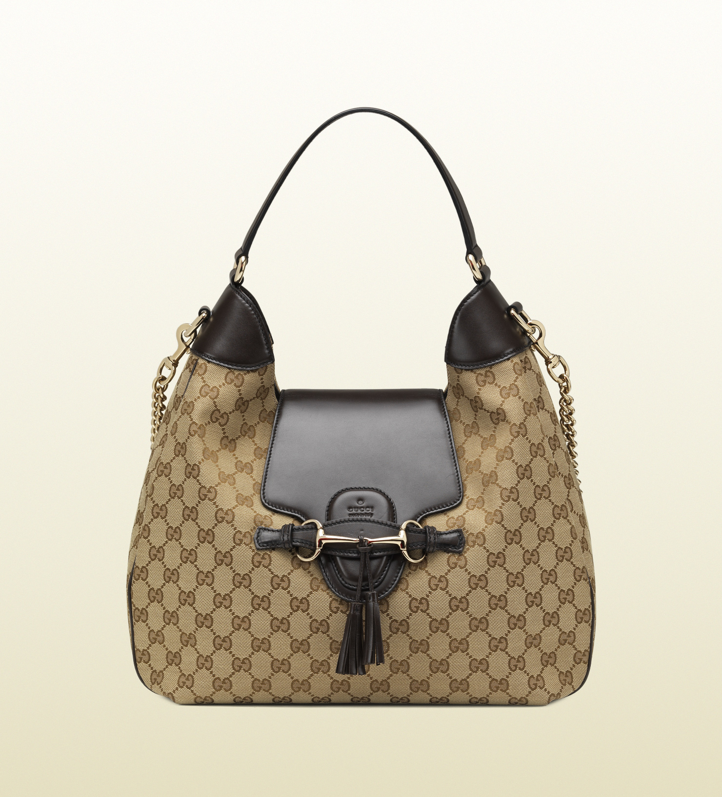 fc0ce83f92aa9 Lyst - Gucci Emily Original Gg Canvas Hobo in Brown
