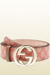 Gucci Gg Supreme Canvas Belt with Interlocking G Buckle - Lyst