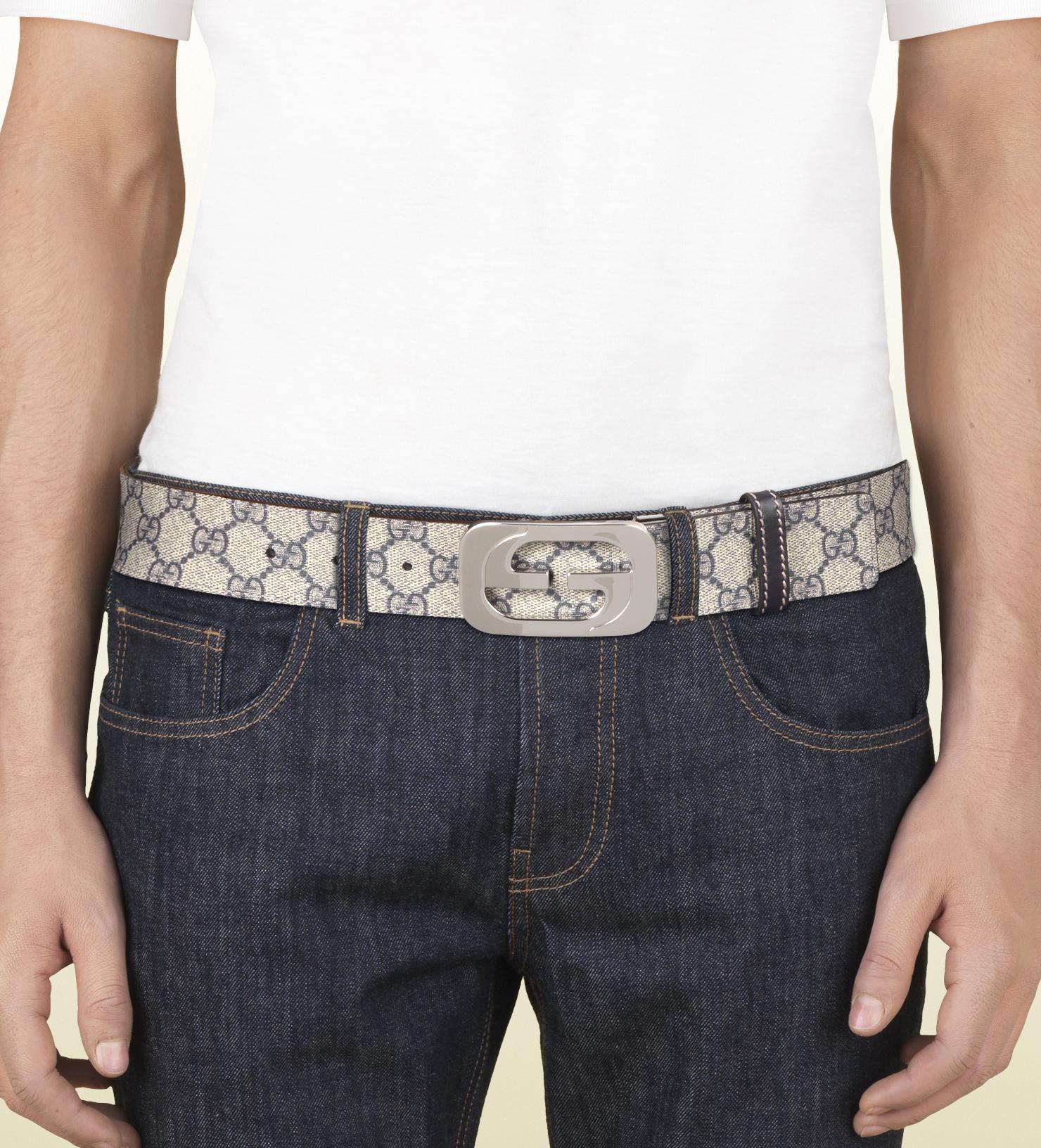 928bd5da93e2 Gucci Reversible Belt With Interlocking G Buckle in Natural for Men ...