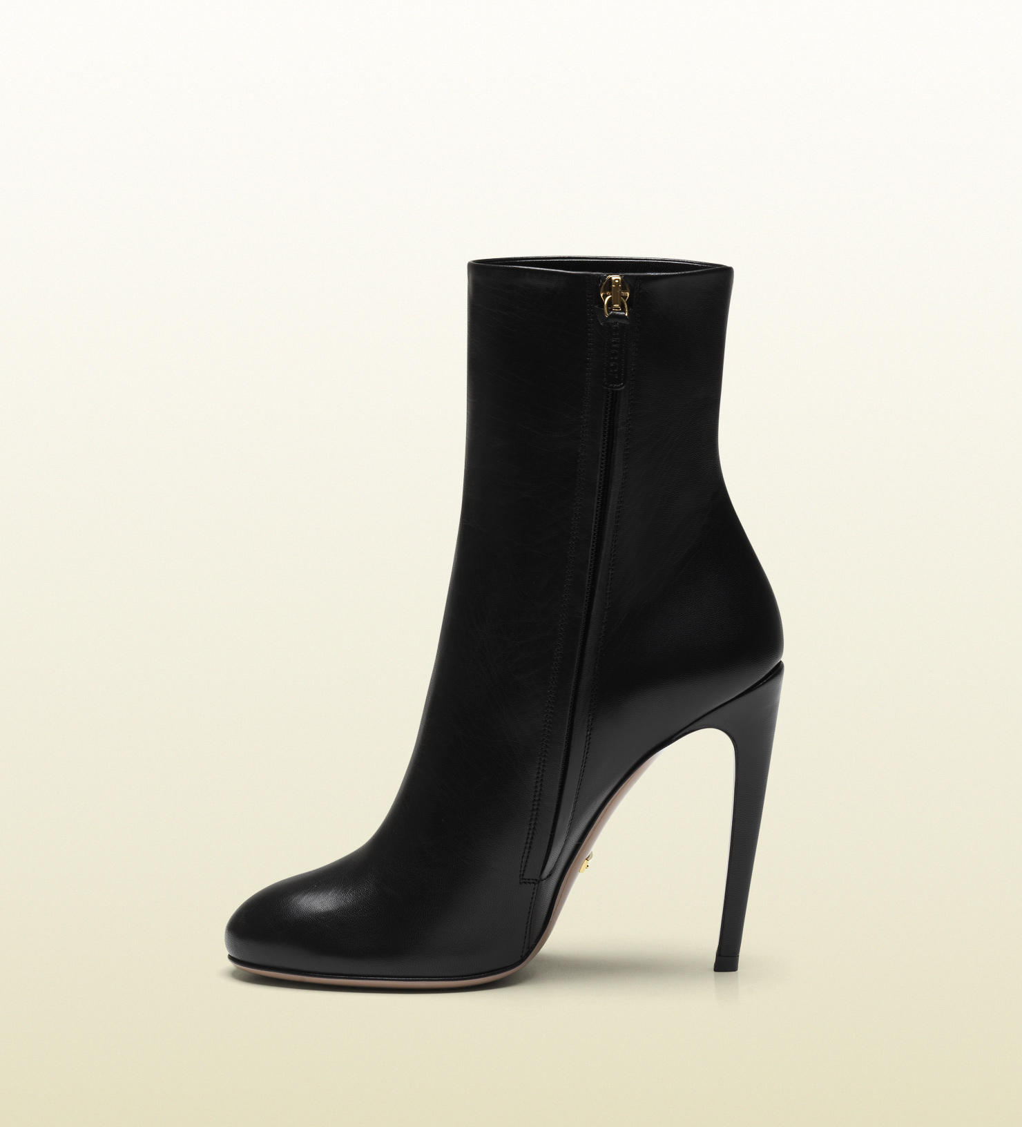 1a3d7387d59 Lyst - Gucci Goldie Black Leather High Heel Bootie in Black