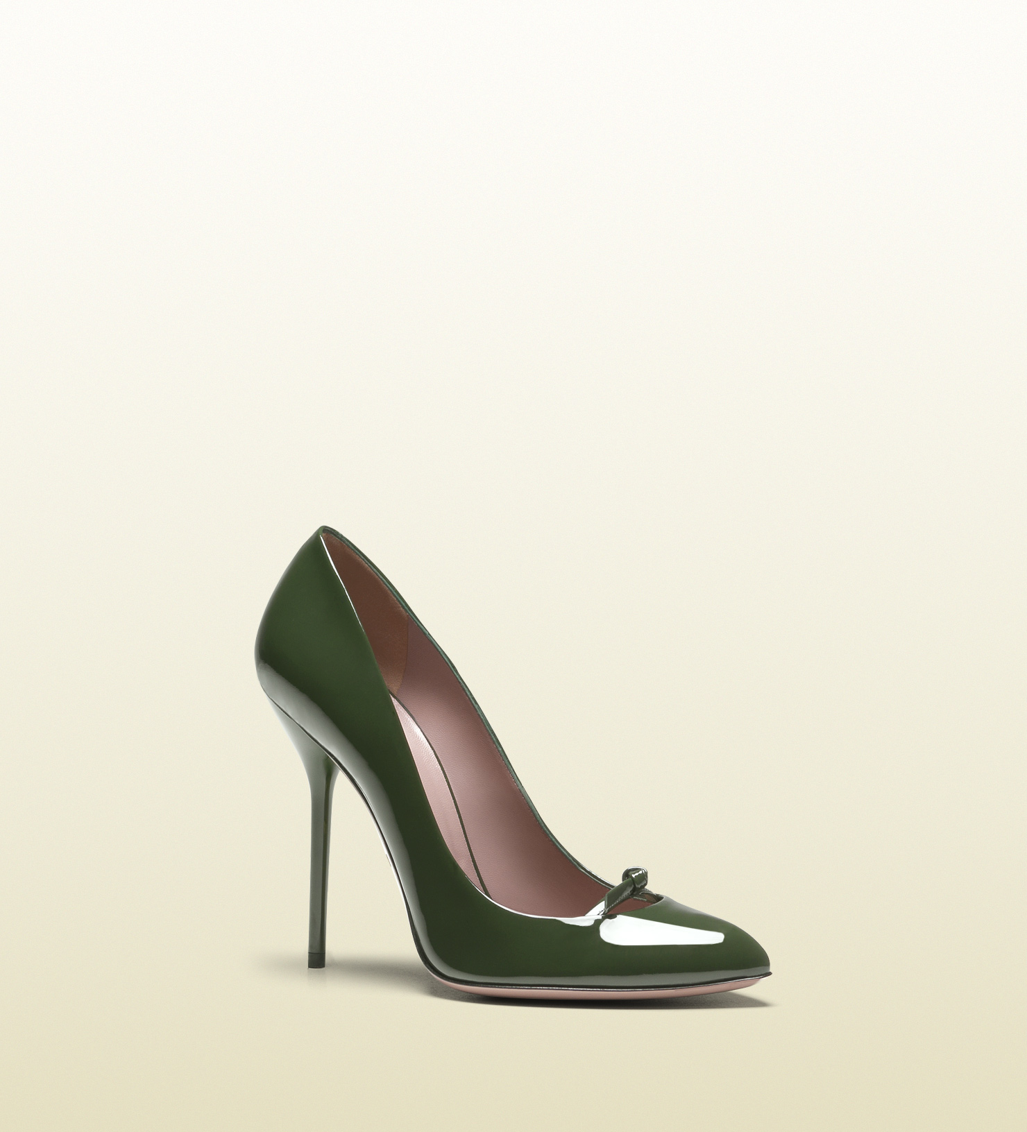 473a0ab982f4 Lyst - Gucci Beverly Patent Leather High Heel Pump in Green