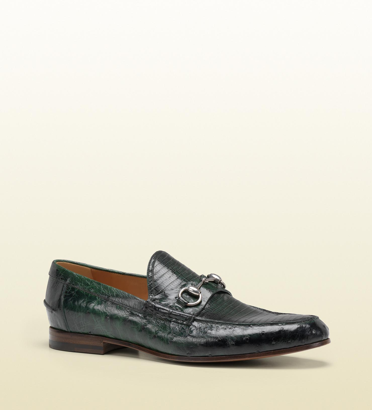 Gucci Ostrich Mens Shoes