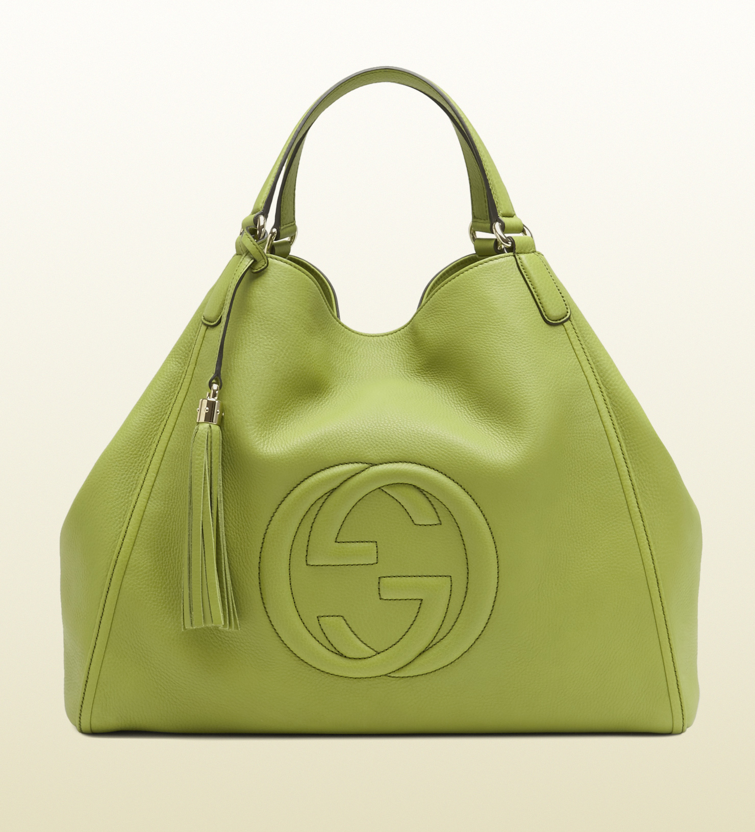 gucci soho apple green leather shoulder bag in green lyst. Black Bedroom Furniture Sets. Home Design Ideas