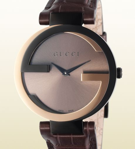 Gucci Pink Gold Watch Pink Gold And Pvd Watch