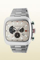 Gucci Coupé Watch Extra Large Stainless Steel Case - Lyst