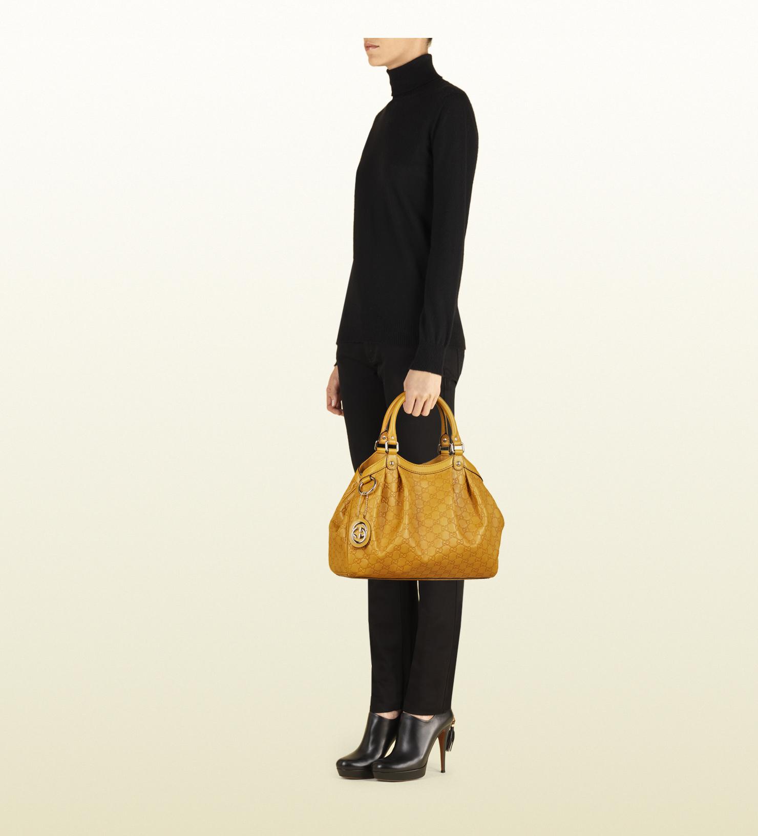 gucci sukey large black ssima leather tote bag guccissima Source · Lyst Gucci  Sukey Guccissima Tote in Yellow 4e669b736ed25