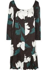 Marni Printed Satin-twill Dress - Lyst