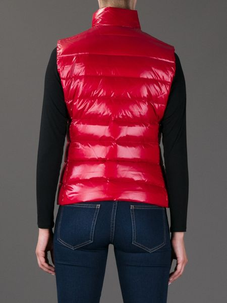 Moncler Ghany Gilet Jacket In Red Lyst