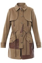 Thakoon Addition Leather Panel Trench Coat - Lyst