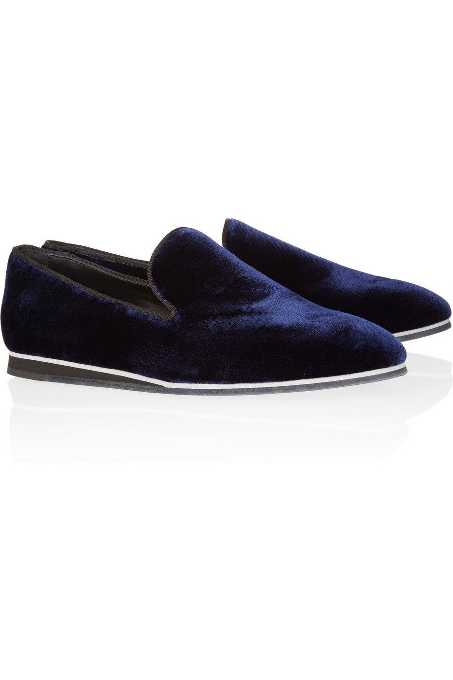 Hook up velvet slippers