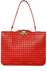 Valentino Rockstud Rouge Top Handle Bag - Lyst