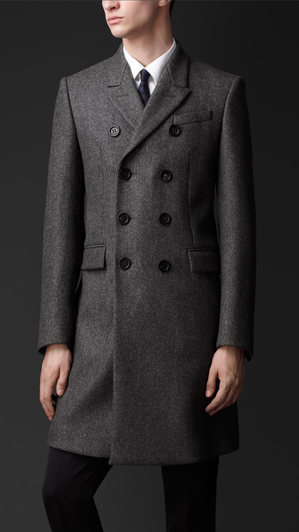 Lyst Burberry Tailored Wool Chesterfield Coat In Gray