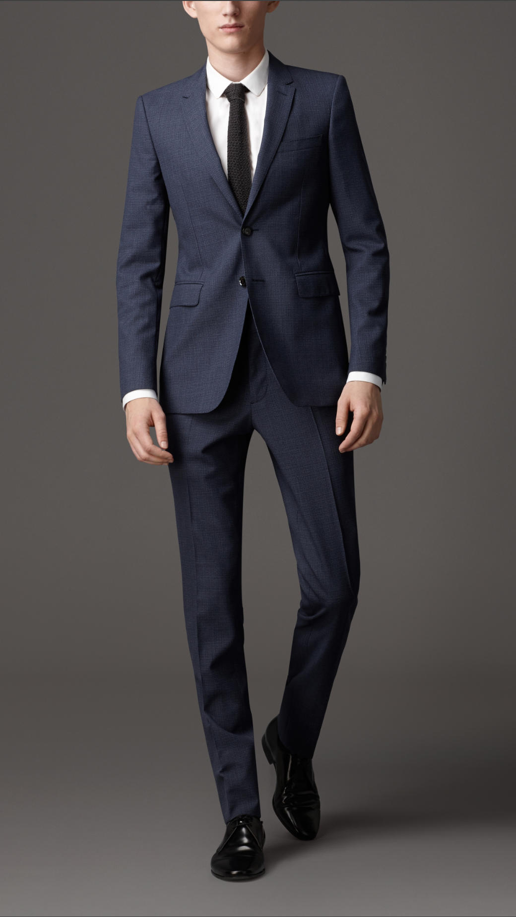 Lyst Burberry Slim Fit Wool Pinstripe Suit In Blue For Men