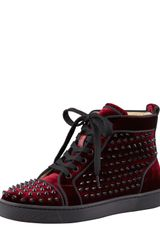 Christian Louboutin Louis Orlato Spiked Hightop Sneaker Rouge - Lyst