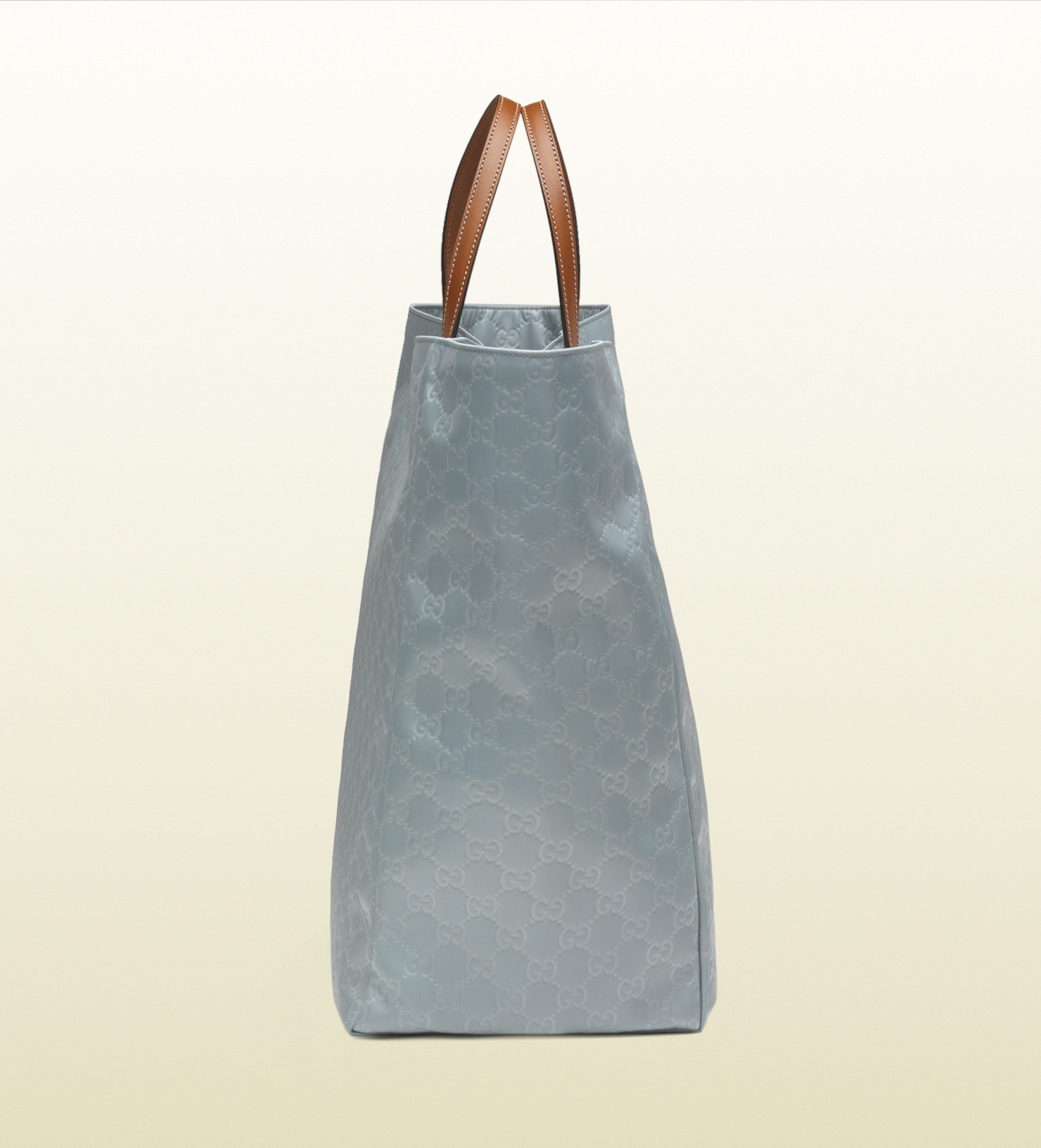 67cf6935a06f Lyst - Gucci Large Light Blue Nylon Guccissima Tote in Blue for Men