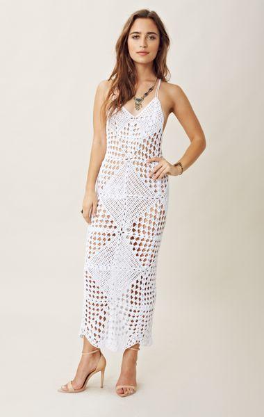 Indah Crochet Maxi Dress in White Lyst