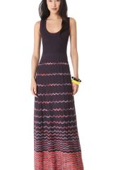 M Missoni Wave Stripe Maxi Dress - Lyst