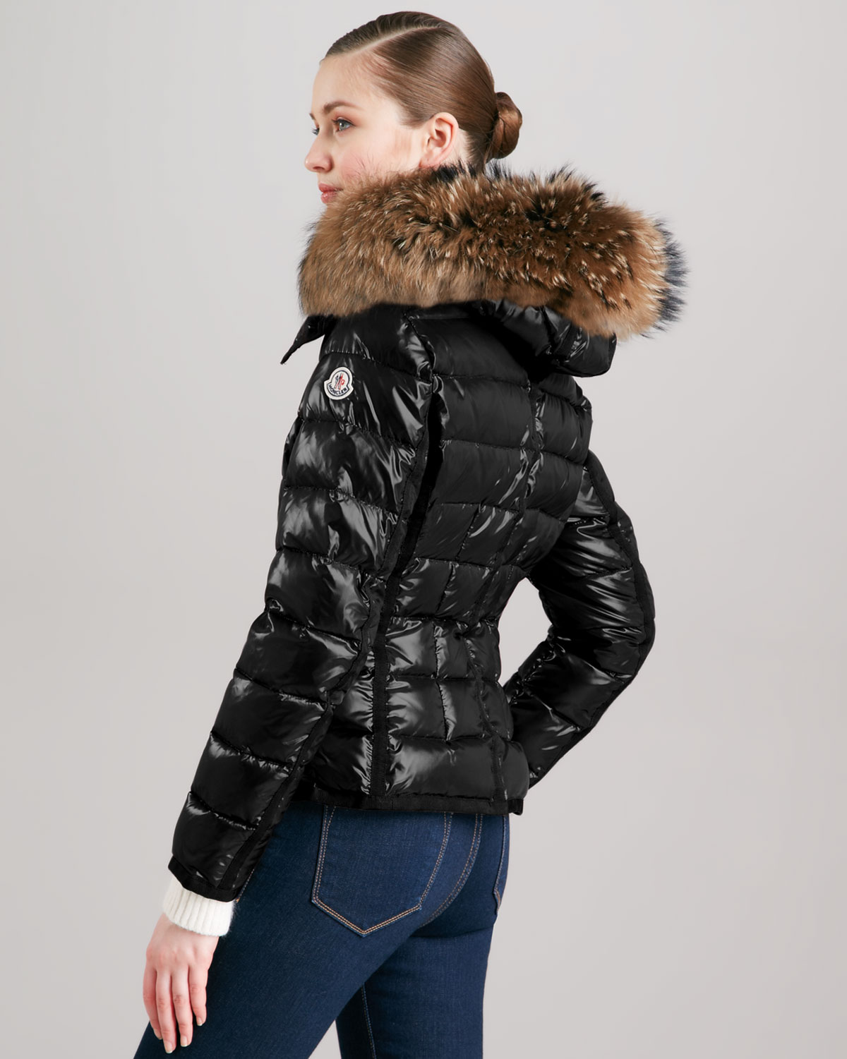 Puffer Jacket With Fur Hood  Outdoor Jacket-8239