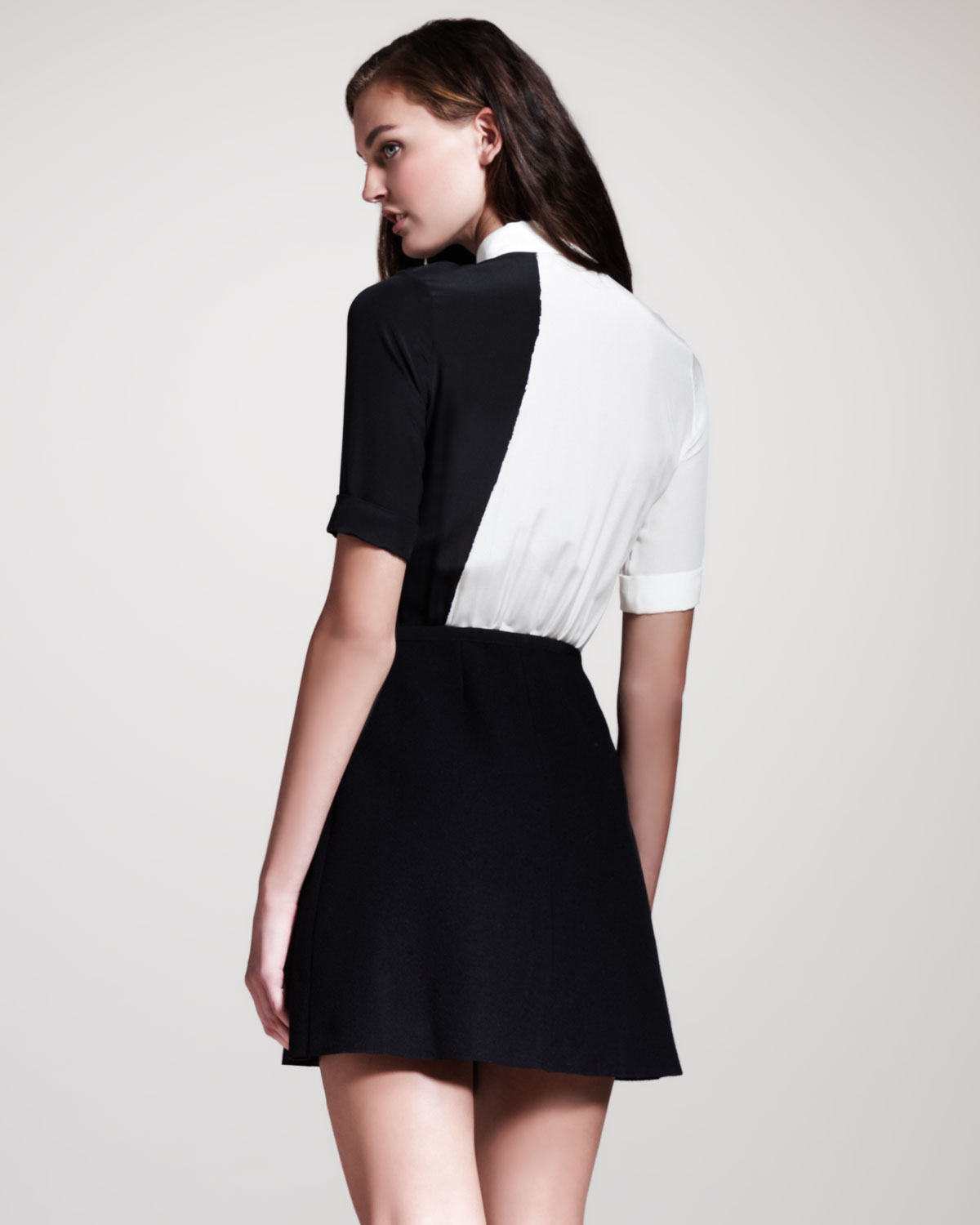 Victoria beckham black shirt dress