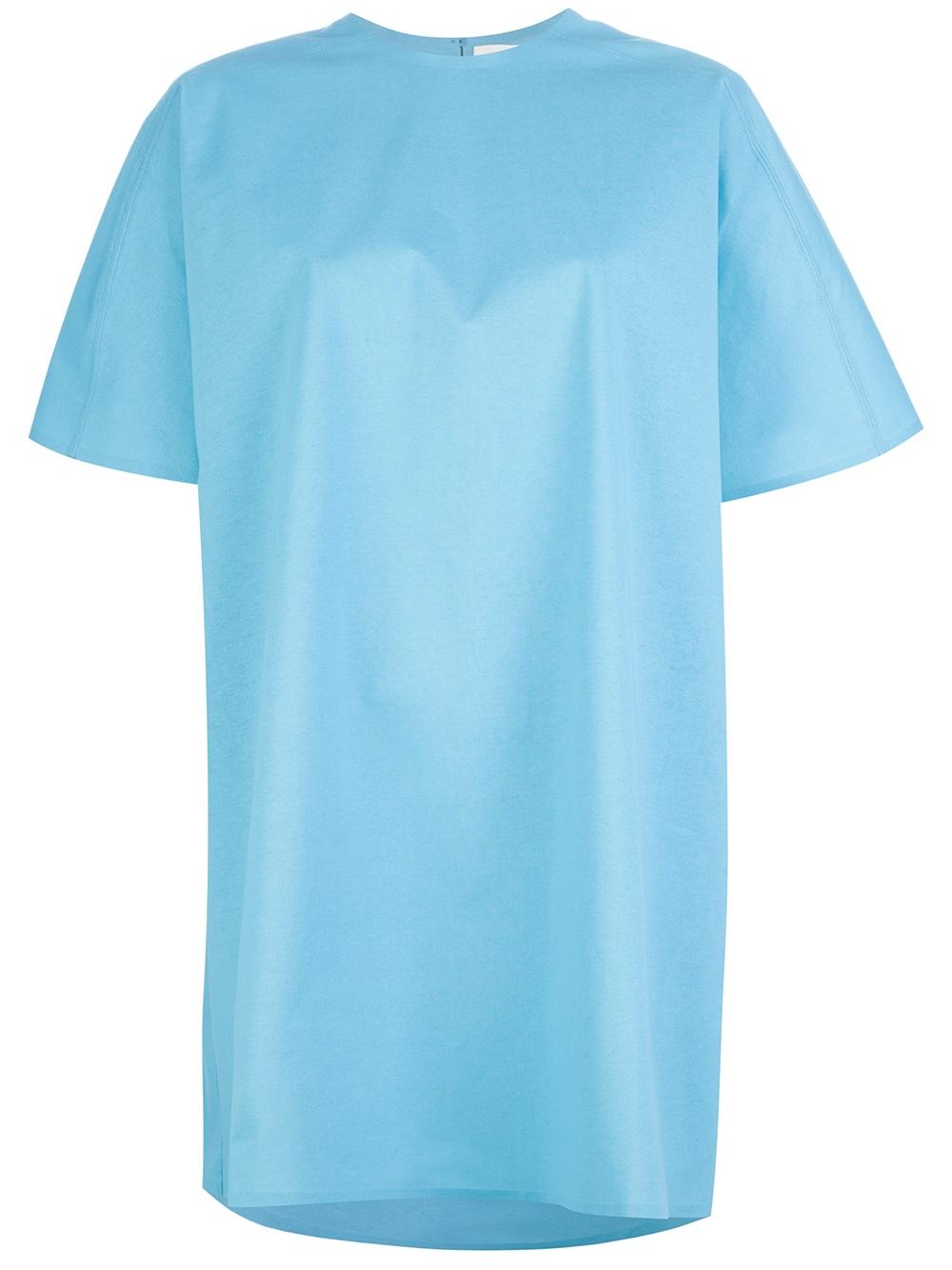 Balenciaga Oversized Papier T Shirt Dress In Blue Lyst
