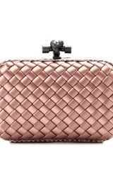 Bottega Veneta Knot Satin Box Clutch with Snakeskin - Lyst