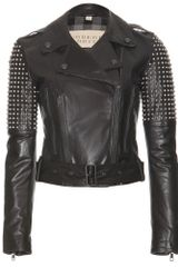 Burberry Brit Studded Leather Jacket - Lyst