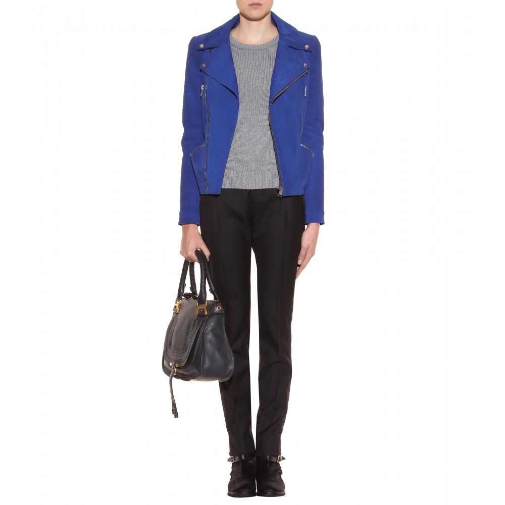 Chlo¨¦ Marcie Medium Leather Handbag in Black (black bat) | Lyst