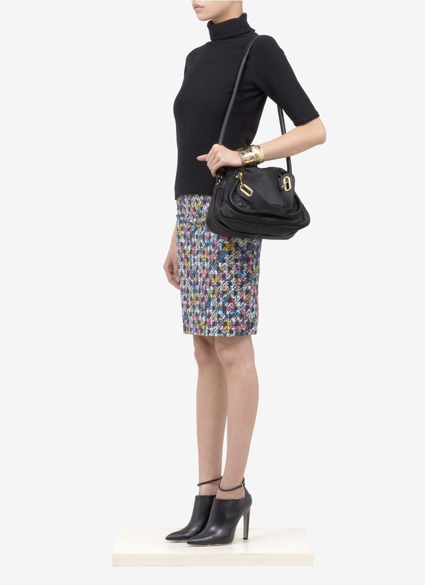 Chlo¨¦ \u0026#39;paraty\u0026#39; Small Leather Bag in Black | Lyst