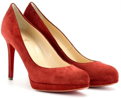 Christian Louboutin New Simple 100 Suede Pumps in Red