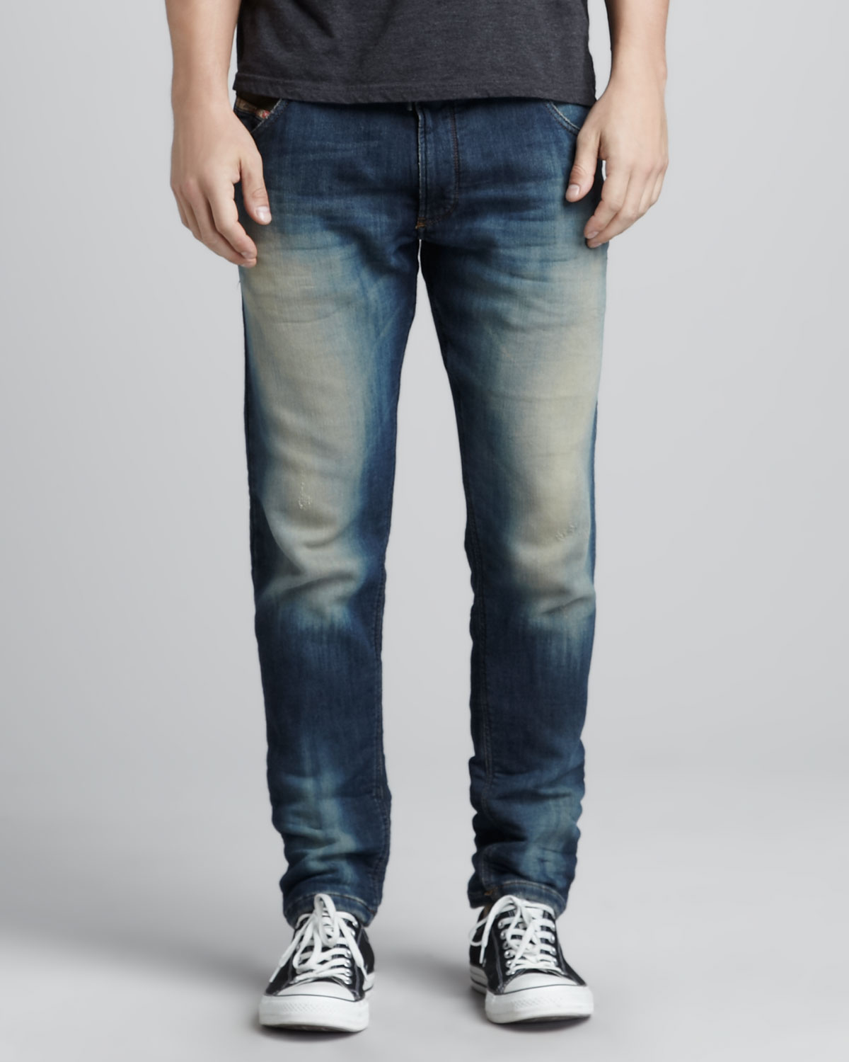 diesel krooley jogg jeans in blue for men lyst. Black Bedroom Furniture Sets. Home Design Ideas