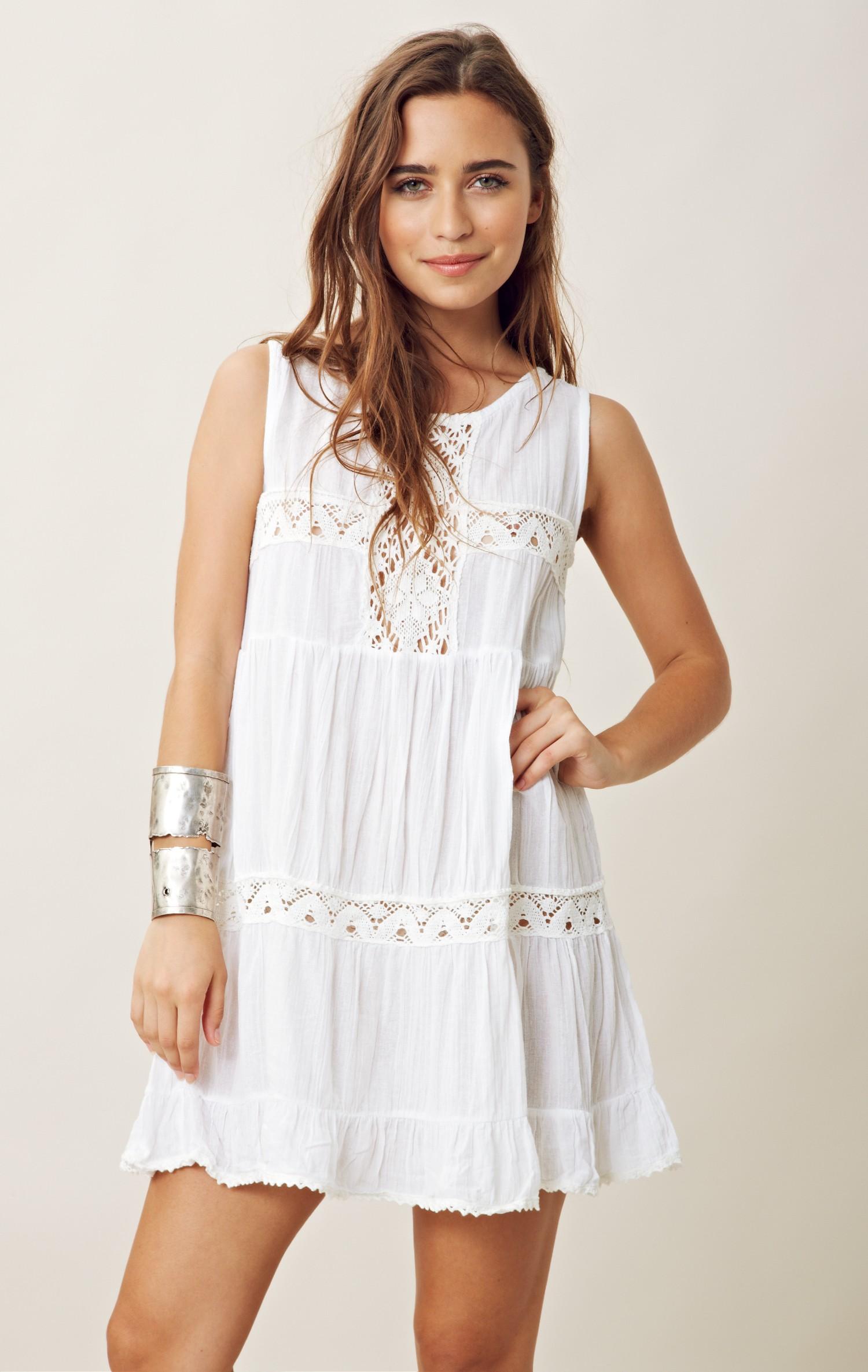 Jen's pirate booty Happy Babydoll Dress in White | Lyst