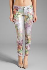 Juicy Couture Crop Jean in Tropical Floral - Lyst