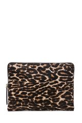 Lanvin Zipper Sac Pochette in Animal Printbrownblack - Lyst