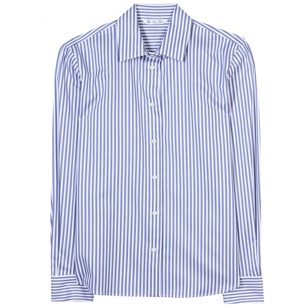 Loro piana Britney Striped Shirt in Blue | Lyst