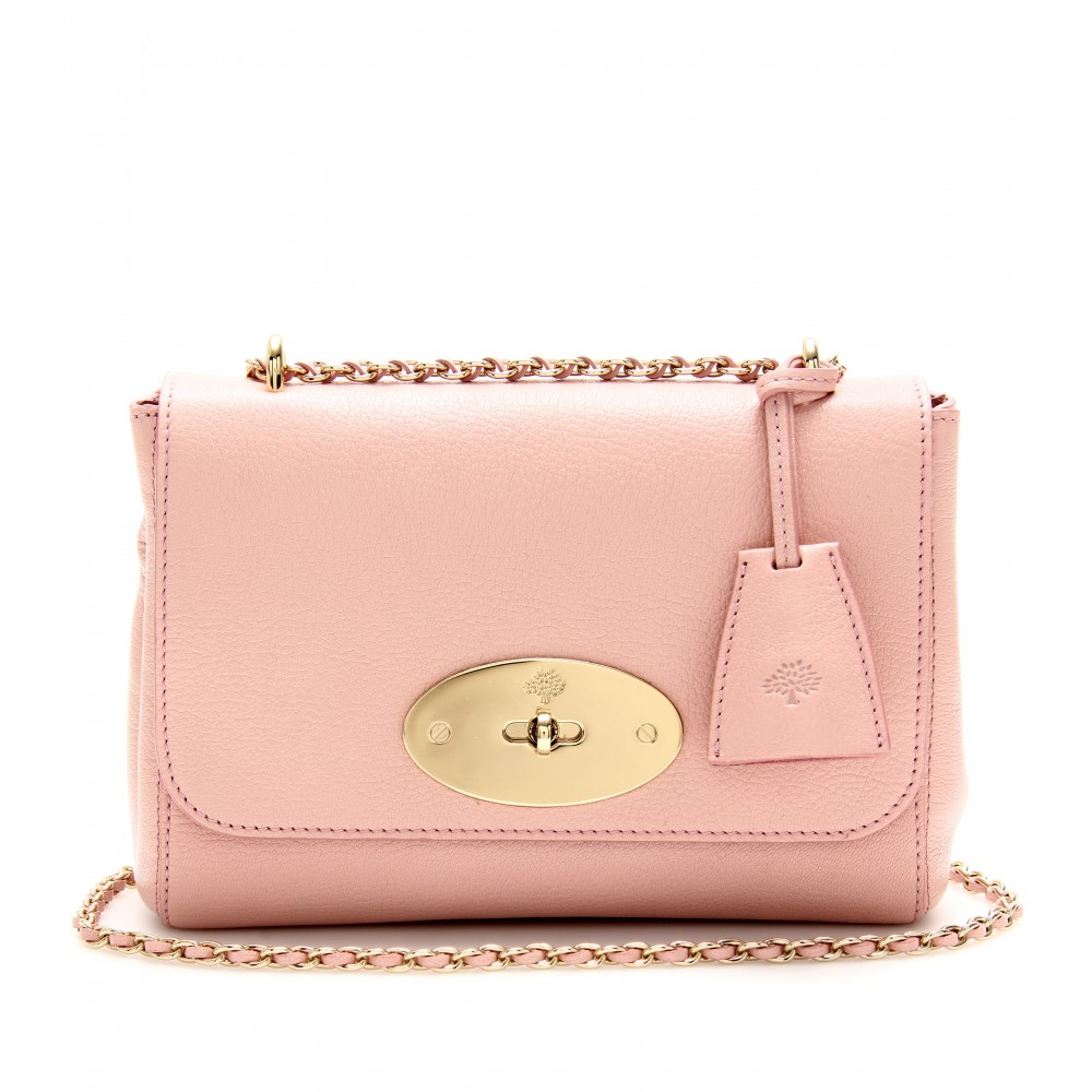ed31b6aea0 ... new zealand lyst mulberry lily grainy leather shoulder bag in pink  2725c 0e079