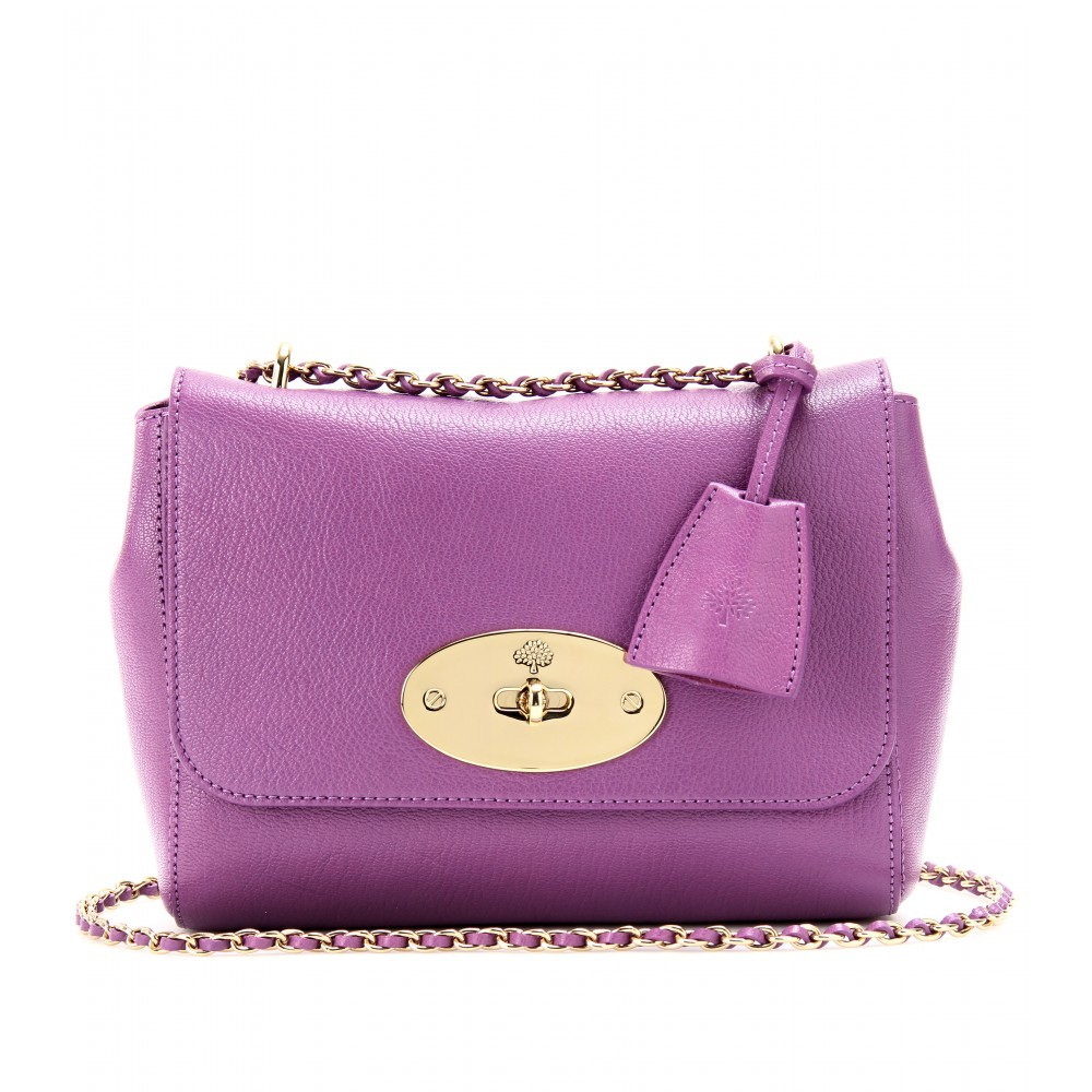 65140ffac74e ... cheap lyst mulberry lily grainy leather shoulder bag in purple cf9c2  95840