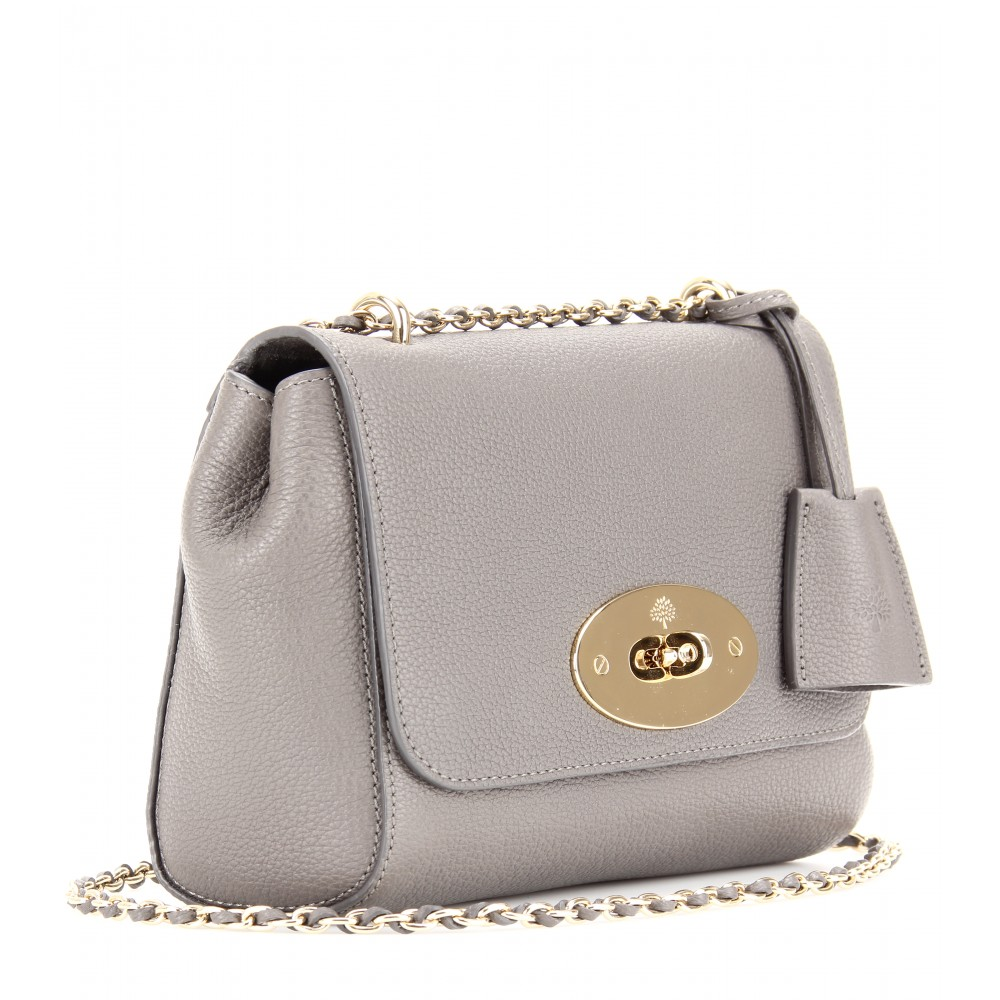 e59a3ae144 ... low price lyst mulberry medium lily grainy leather shoulder bag in gray  b907d 58eb5