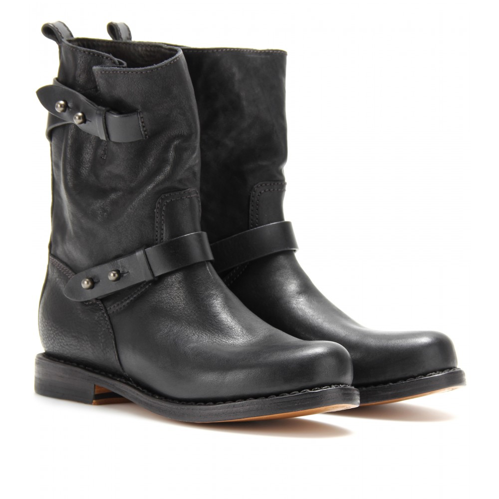 Pre-owned - Leather biker boots Rag & Bone yfICT