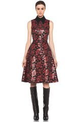 Rodarte Embroidered Tulle Dress in Floral Blackred - Lyst