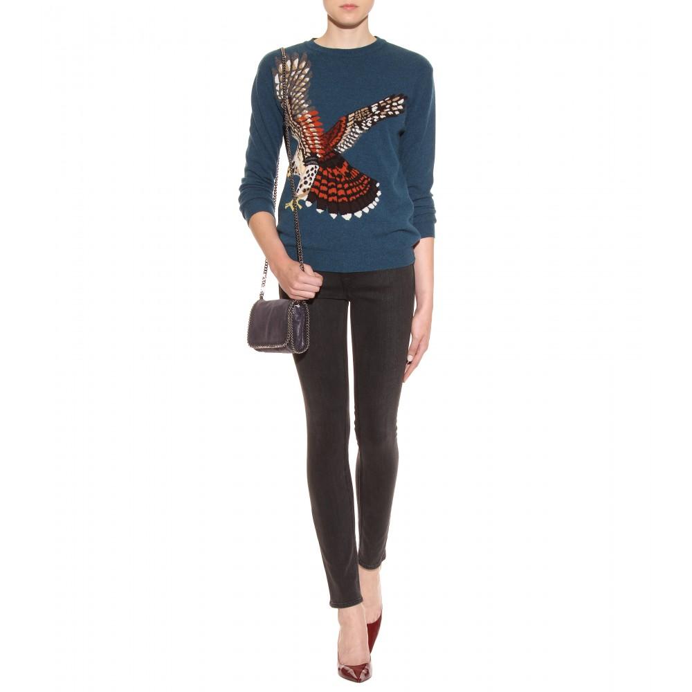 1ecd3866edeb Lyst - Stella McCartney Falabella Shaggy Deer Mini Shoulder Bag in Blue
