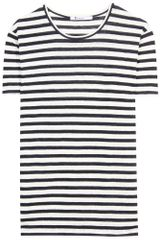 T By Alexander Wang Stripe Tee - Lyst