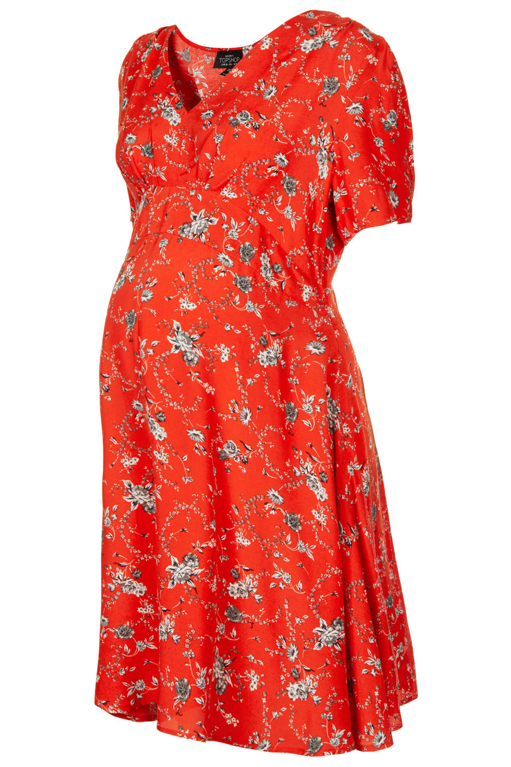 Lyst topshop maternity hawthorne floral dress in red gallery ombrellifo Image collections