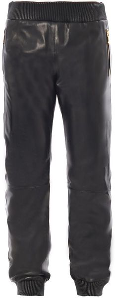 Versace Leather Sweatpants - Lyst