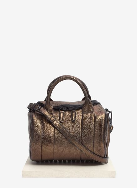 Alexander Wang Rockie Mini Iridescent Duffle in Brown (Metallic) - Lyst
