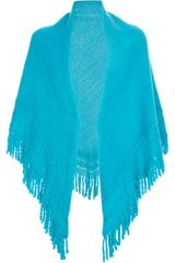 Balmain Vintage Intricately Knit Poncho - Lyst
