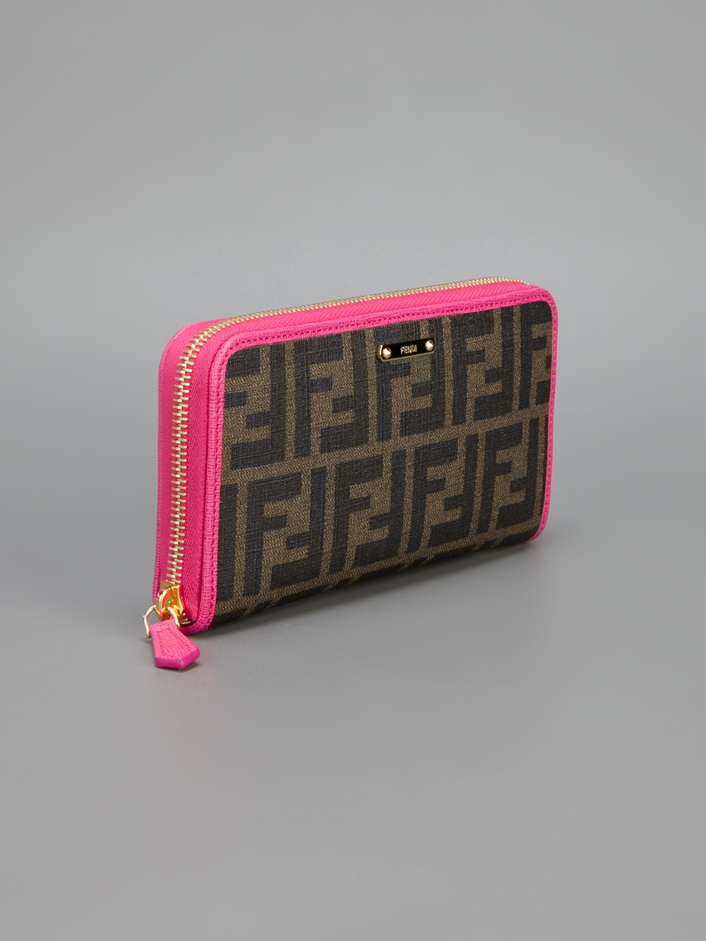 05e100110795 Lyst - Fendi Monogram Wallet in Brown